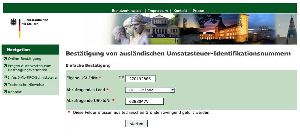 deutsche ust id prüfen